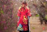 Bức ảnh cô gái khuyết tật đi giữa rừng hoa xuân khiến dân mạng khâm phục