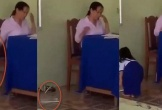 Cảnh cáo giáo viên vứt vở học sinh xuống đất