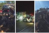 Hiện trường vụ tai nạn thảm khốc 3 người chết ở Gia Lai: Xe bán tải nát bét, trục bánh rơi ra ngoài