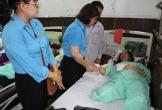 Xót xa hoàn cảnh chị công nhân mất 1 chân do bị lật xe