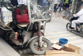 Xe ba gác mất phanh đè chết người đi đường