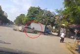 Người đàn ông bị kẹt giữa xe tải và ôtô may mắn thoát chết