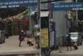 Phẫn nộ cảnh nam thanh niên túm tóc, đánh bạn gái tới tấp trên đường phố