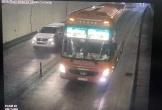 Yêu cầu xử lý tài xế xe khách 50 chỗ vượt ẩu trong hầm Hải Vân