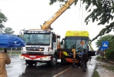 Xe khách giường nằm gặp tai nạn sau khi tránh xe máy ở Quảng Trị