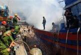 Tàu cá bốc cháy giữa xưởng sửa chữa, thiệt hại gần 1 tỉ đồng