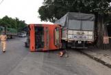 Clip: Tông người phụ nữ sang đường tử vong, xe khách đâm xe tải rồi lật kinh hoàng
