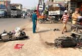 Xe tải gây tai nạn liên hoàn rồi lao vào nhà dân