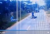 Xôn xao clip sang đường sai gây tai nạn, vác gậy đánh người ở Bình Phước