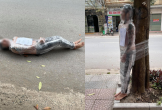 Đi xăm hình rồi quỵt tiền, nam thanh niên bị quấn nilon bắt đứng ngoài gốc cây dưới trời lạnh