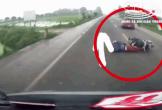 Tài xế đánh lái xuất thần, cứu mạng người đàn ông đi xe máy